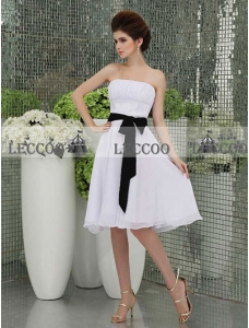 Strapless Chiffon A-line Homecoming Dress