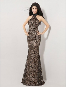Sexy Panther Print Mermaid Dress